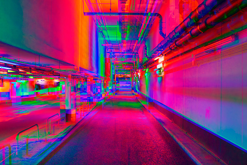 Multiple Exposure「Vibrant tunnel」:スマホ壁紙(8)