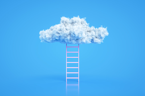 Teamwork「Stairs to the clouds, Ladder of Success Concept」:スマホ壁紙(10)
