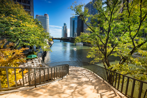 Illinois「Stairs to the Chicago Riverwalk」:スマホ壁紙(5)