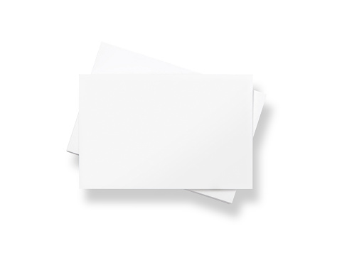 Square Shape「Stack of blank white business cards」:スマホ壁紙(2)