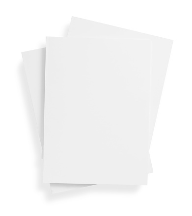Paperback「Stack of blank, white magazine covers over white background」:スマホ壁紙(15)