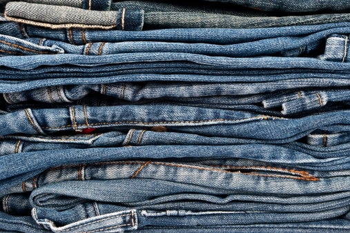 Casual Clothing「Stack of blue jeans」:スマホ壁紙(18)