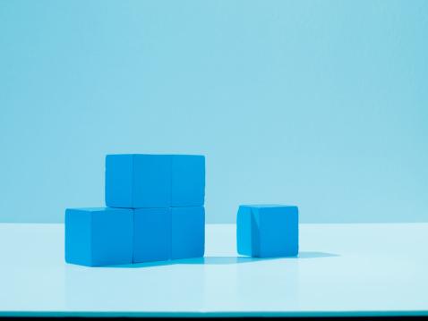 Blue Background「Stack of blue blocks」:スマホ壁紙(0)