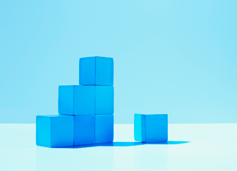 Blue Background「Stack of blue blocks」:スマホ壁紙(19)