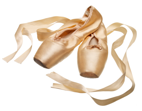 Arts Culture and Entertainment「Pointe ballet slippers on white background」:スマホ壁紙(11)