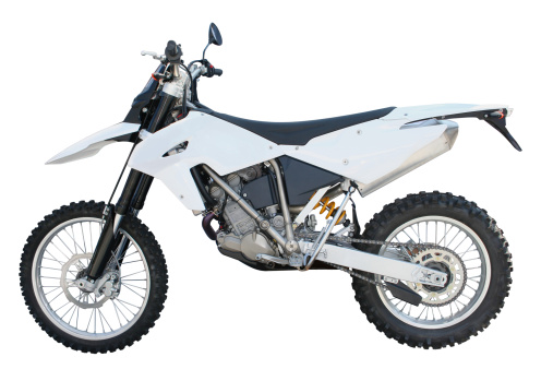Motorcycle「White and black dirt bike over a white backgound」:スマホ壁紙(16)