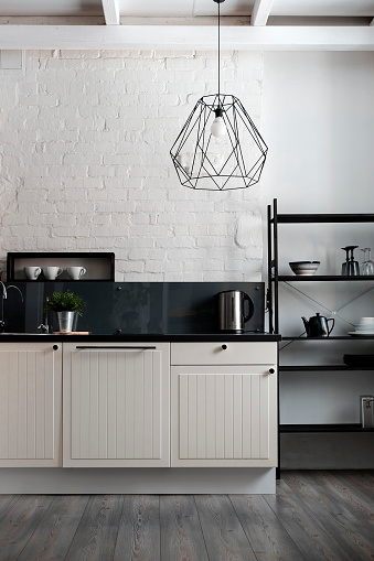 Wall - Building Feature「White and black domestic kitchen」:スマホ壁紙(3)