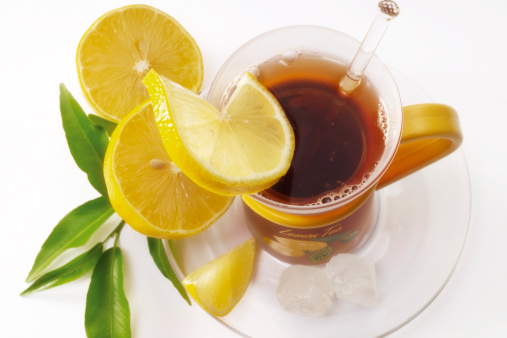 Drinking「Lemon tea, elevated view」:スマホ壁紙(11)