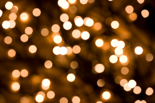 Christmas Lights「Defocused Gold Lights」:スマホ壁紙(3)