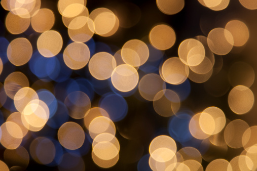 Textured Effect「defocused golden light dots against black background」:スマホ壁紙(3)