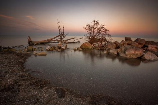 ビーチ「ポイント ペレ国立公園 - 長時間露光」:スマホ壁紙(7)