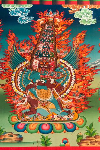 Khumbu「Tengboche Monastery, entry gate guardian figure」:スマホ壁紙(18)