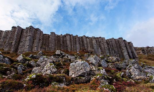 Basalt「Gerduberg Cliffs, basalt column wall.」:スマホ壁紙(10)