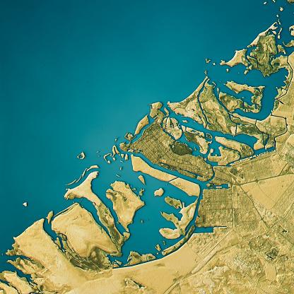 Clip Art「Abu Dhabi Topographic Map Natural Color Top View」:スマホ壁紙(3)