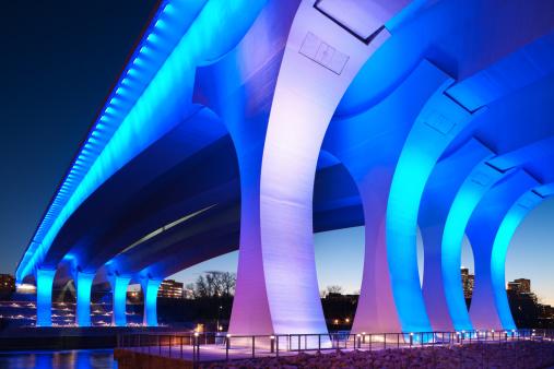 Urban Skyline「Rebuilt 35w bridge in Minneapolis, Minnesota.」:スマホ壁紙(14)