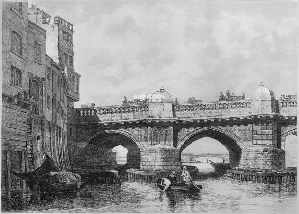 Engraving「'The Southwark End of Old London Bridge', 1831, (1912)」:写真・画像(15)[壁紙.com]