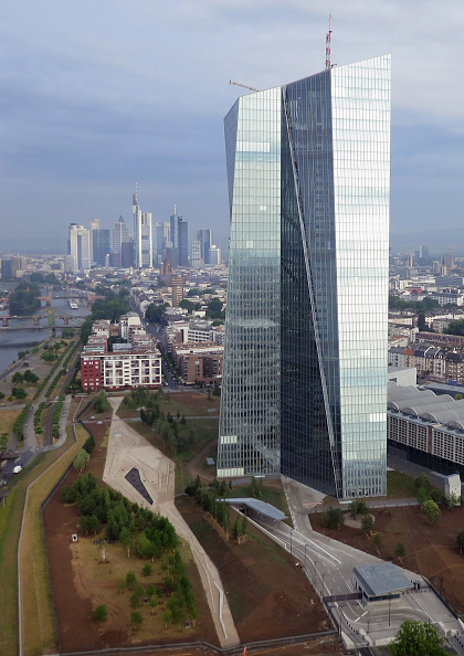 Seat of the European Central Bank「European Central Bank And Frankfurt Financial District」:写真・画像(17)[壁紙.com]