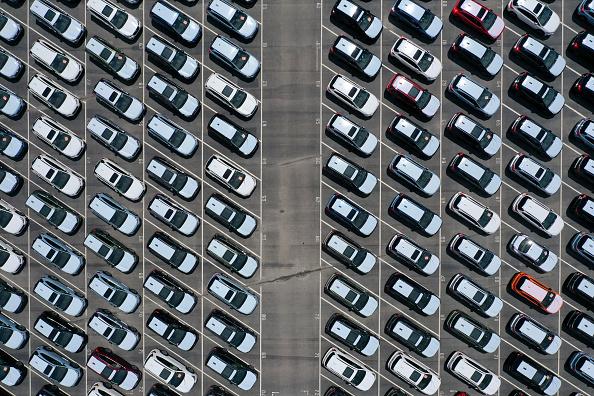 New「New Cars Sit In Storage Lot In Richmond, California」:写真・画像(14)[壁紙.com]
