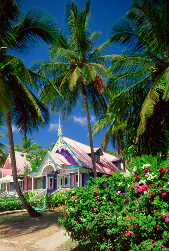 19th Century「Gingerbread-style shops in Mustique, St. Vincent, Windward Islands」:スマホ壁紙(14)