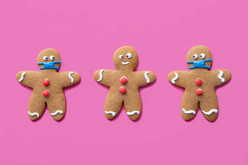 Biscuit「Gingerbread Men Christmas Cookies Wearing Protective Face Masks」:スマホ壁紙(13)