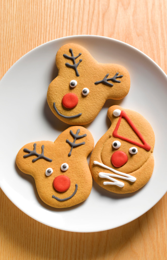 Christmas cake「Gingerbread Christmas biscuits」:スマホ壁紙(19)