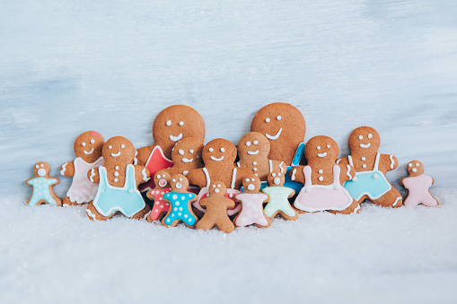 Gingerbread Cookie「Gingerbread family」:スマホ壁紙(8)