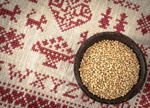 Cross-Stitch「Bowl of buckwheat grains on cross stitch doily」:スマホ壁紙(8)