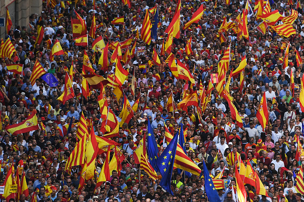 Catalonia「Pro-Unity Rally Held In Barcelona Against Catalonian Independence」:写真・画像(18)[壁紙.com]