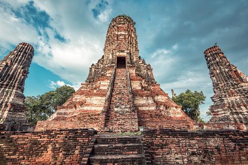 Praying「Wat Chaiwatthanaram」:スマホ壁紙(19)