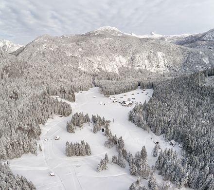 スキー「Blaa-Alm, Ausseerland, Styria, Austria, Austrian Alps」:スマホ壁紙(11)