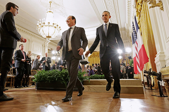 Chip Somodevilla「President Obama Meets With French President Hollande At The White House」:写真・画像(4)[壁紙.com]