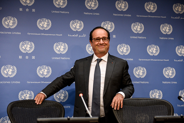 笑顔「French President Hollande Holds Press Briefing At UN」:写真・画像(8)[壁紙.com]