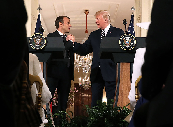 Washington DC「President Trump And French President Macron Hold Joint News Conference In East Room」:写真・画像(1)[壁紙.com]