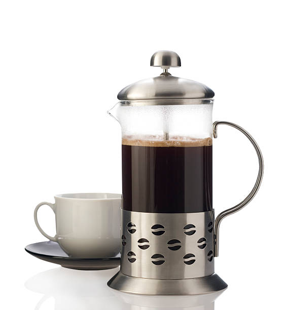 French press with cup isolated.:スマホ壁紙(壁紙.com)