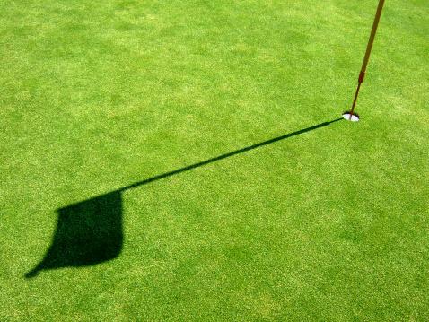 ゴルフ「ゴルフの旗シャドー」:スマホ壁紙(7)