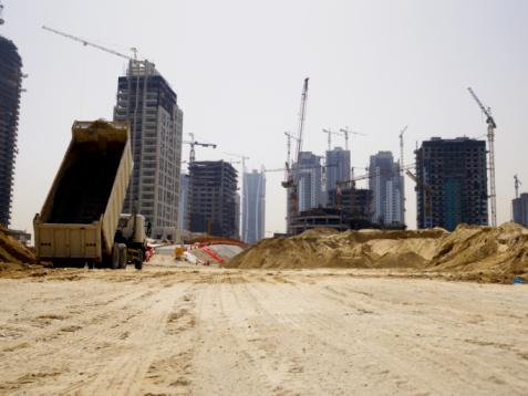 Crane - Construction Machinery「United Arab Emirates, Dubai, building site」:スマホ壁紙(19)