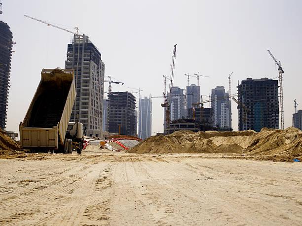 United Arab Emirates, Dubai, building site:スマホ壁紙(壁紙.com)