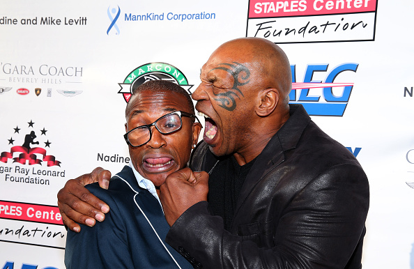 """Mike Tyson「B. Riley & Co. And Sugar Ray Leonard Foundation's 5th Annual """"Big Fighters, Big Cause"""" Charity Boxing Night」:写真・画像(11)[壁紙.com]"""