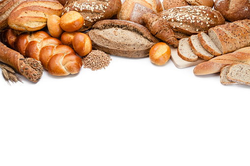 Loaf of Bread「Bread frame on white background」:スマホ壁紙(1)