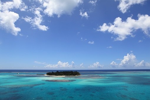 Saipan「Island and reef, Saipan, Northern Mariana Islands」:スマホ壁紙(12)