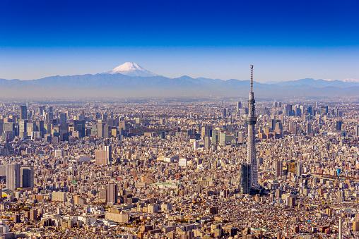 Tower「Tokyo Sky Tree and Mt.Fuji Aero photography」:スマホ壁紙(15)