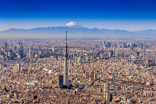 Tokyo Sky Tree「Tokyo Sky Tree and Mt.Fuji Aero photography」:スマホ壁紙(17)