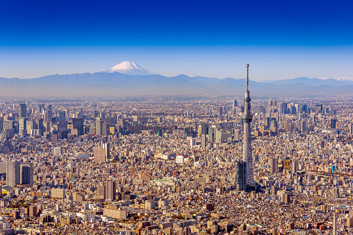Tokyo - Japan「Tokyo Sky Tree and Mt.Fuji Aero photography」:スマホ壁紙(14)