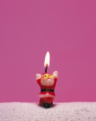 朗らか「Candle of Santa Claus, Front View, Close Up, Copy Space」:スマホ壁紙(5)