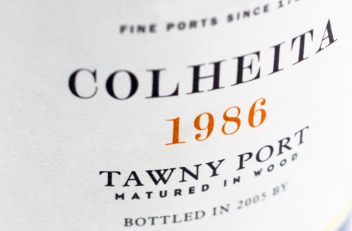 1980-1989「Label on a bottle of vintage port」:スマホ壁紙(10)