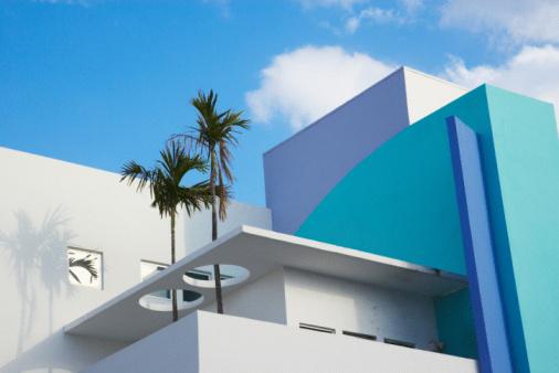 Miami「Colorful art deco building in Miami, Florida」:スマホ壁紙(9)