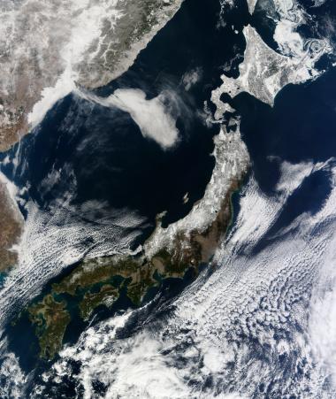 Hokkaido「February 22, 2011 - Satellite view of Japan.」:スマホ壁紙(0)