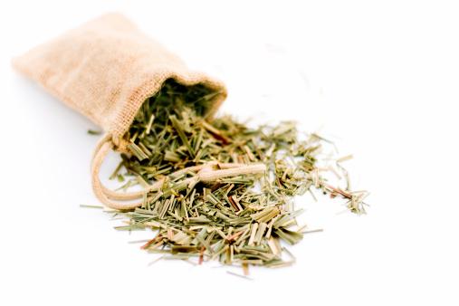 Ice Tea「Lemongrass in burlap bag isolated on white」:スマホ壁紙(5)