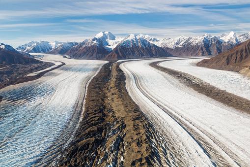 Kaskawulsh Glacier「St. Elias Mountains and Kaskawulsh Glacierin Kluane National Park, Yukon Territory, Canada」:スマホ壁紙(6)