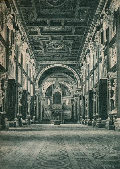Architectural Feature「Nave of the Basilica San Giovanni in the Lateran, Rome, Italy」:写真・画像(15)[壁紙.com]